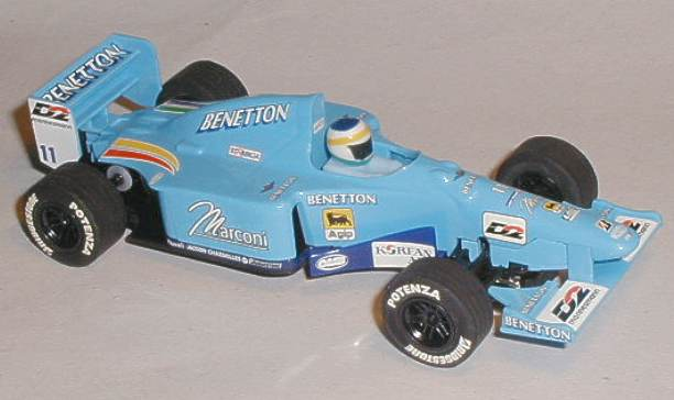 This Scalextric C2266 Benetton Renault B200 model was raced by
