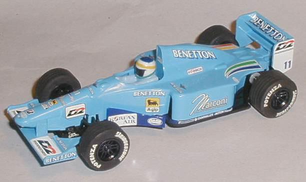 This Scalextric C2266 Benetton Renault B200 model is complete and is