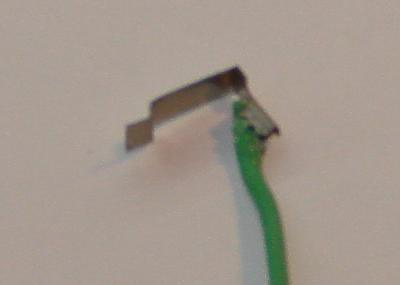 Damaged Scalextric crimp to wire