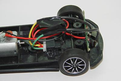 Scalextric car repaired